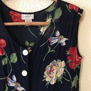 51ddd8a77a Vintage Dresses - Vintage 90s Banana Republic Floral Dress M